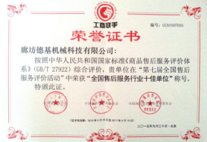 Top 10 Best PRC After-Sales Service Enterprises<br>全國售後服務行業十佳單位