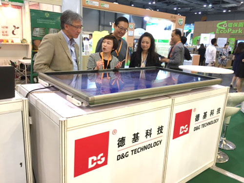 Ms Glendy Choi, CEO, explained the concept and operation principle of our recycling products